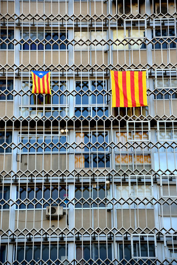 flag independence Catalonia Building Exterior Catalonia Flag Indipendence Catalonia No People Outdoors Patriotism Resist Paint The Town Yellow