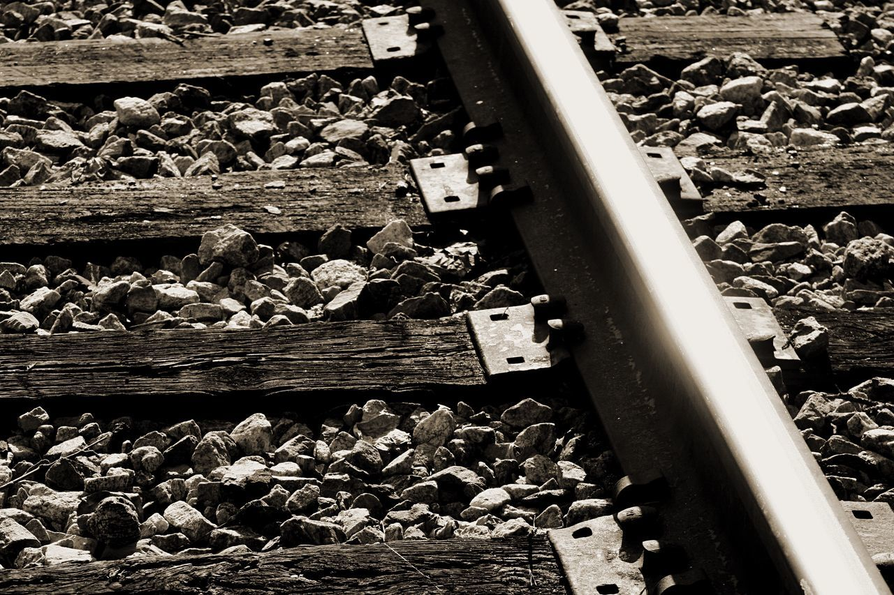 The Tracks Rail Transportation Railroad Track Railway Track Rails EyeEmNewHere Scenics No People Close-up Timber Outdoors Day Iron Transportation
