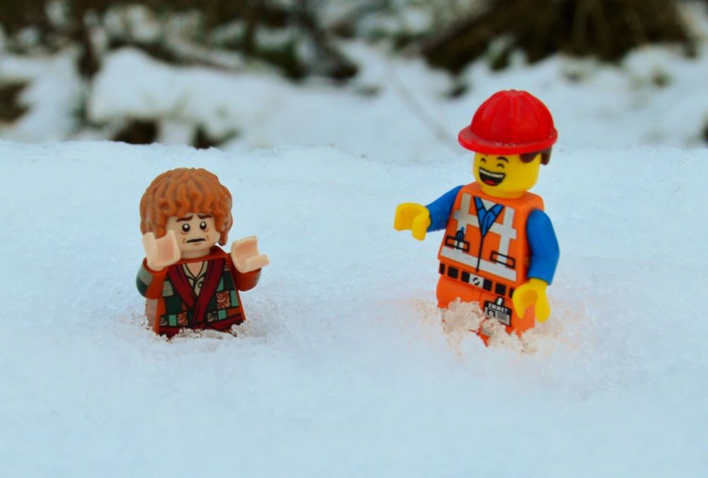 Adventure Bilbo Baggins Bit Of Fun Check This Out Childhood Day Emmet Enjoyment Fun Funny Laugh Laughing LEGO Lego Minifigures Leisure Activity LMAO LOL Nikon D3200 Sad Smile Snow Snow ❄ Toys Winter