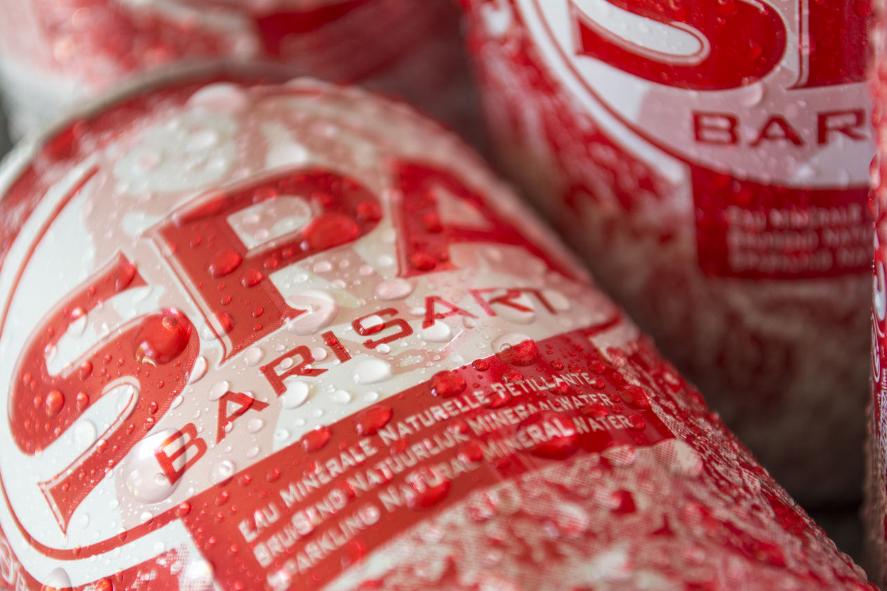 SPA Barisart Sparkling Water Barisart Close-up Closeup Detail Drink Focus On Foreground Market No People Red Selective Focus SPA Barisart Spa Drink Sparkling Water Still Life Water Waterdoplets