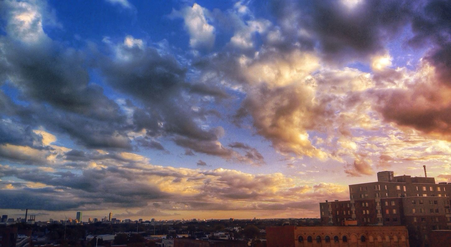 Beautiful view of Boston Clouds AsDigiClicks Boston What Does Peace Look Like To You?