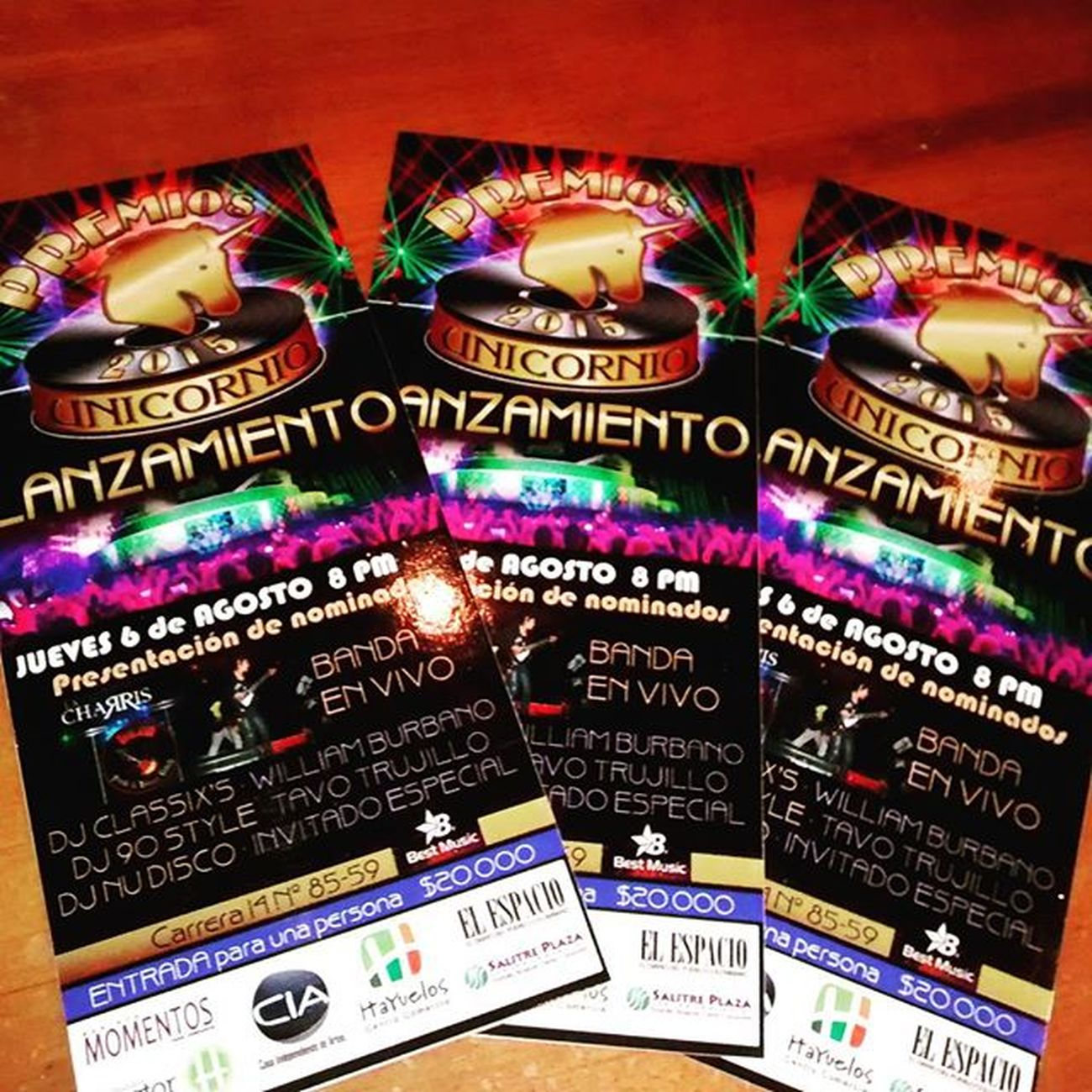 LanzamientoPremiosUnicornio2015 Discoparty DiscoParty2015 Awards Retrodjs Nominados Unicornio UnicornioDiscoParty OsejosBrothers