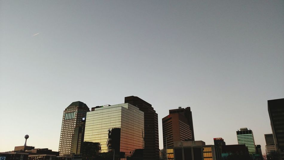 City Cityscapes Sunset Cool USA Columbus Ohio Bluejackets