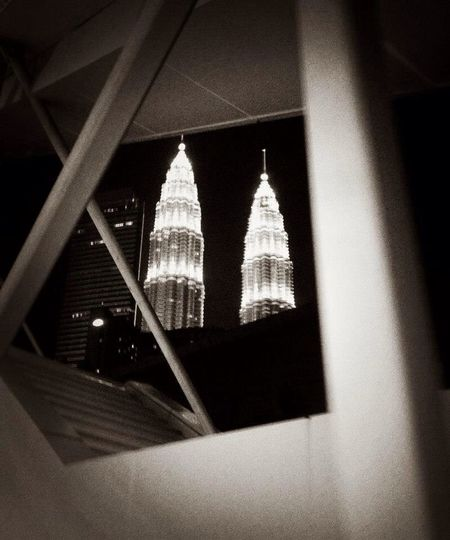 Kuala Lumpur Black And White Urban Geometry Urban Architecture Cityscapes