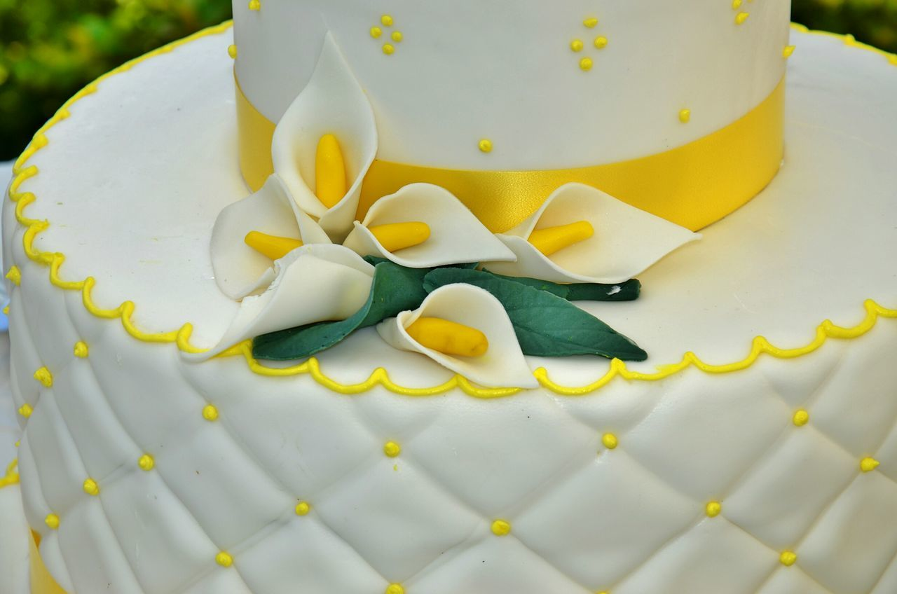 Cake made in Sicily Italy Italia Sicily Sicilia South Italy Cake Bakery Comunion Yellow Flower Flowers Sweet Food Food Indulgence No People Close-up Indoors  Day