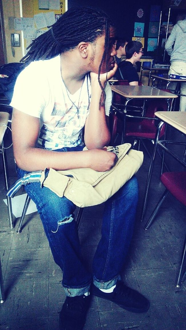 chilling * in class