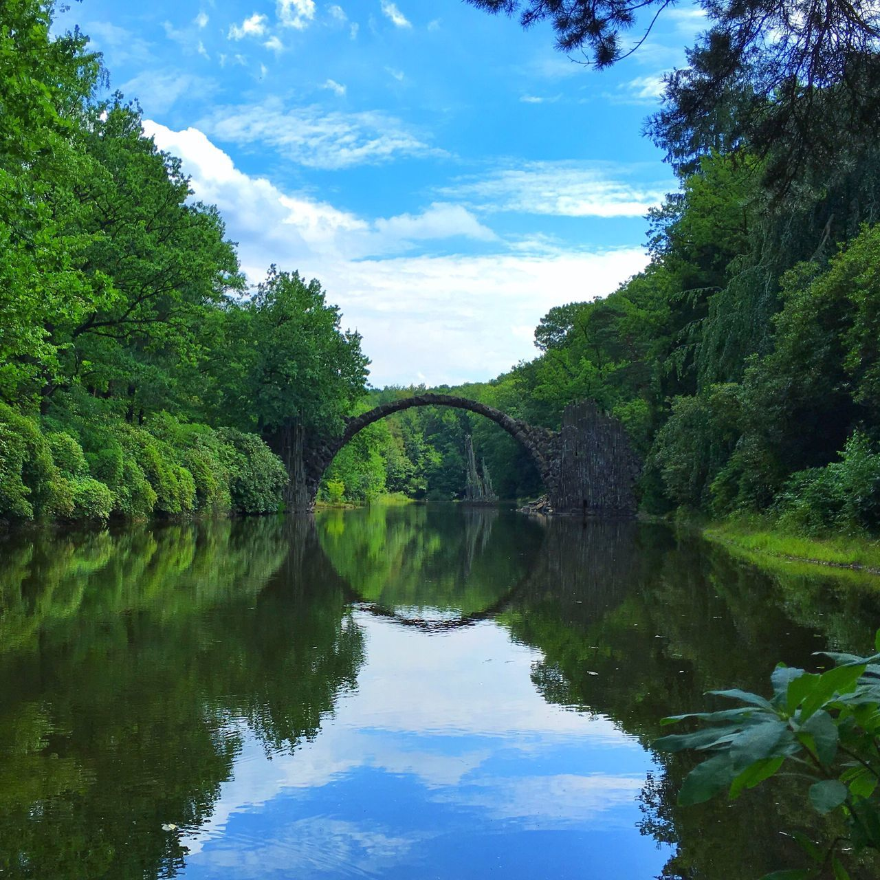 Rakotzbrücke Rakotzbridge Nature Nature Photography Bridge Water Reflections