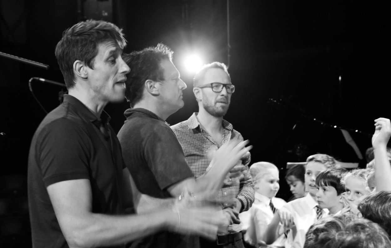 EyeEm Selects Singing With Tenors Tenors Unlimited Salisbury Playhouse School Choir Backstage Arts Culture And Entertainment Indoors  Performance Stage - Performance Space Togetherness Young Adult Night Young Men Illuminated Real People Happiness Men Nightlife Smiling Applauding Actor People Adult