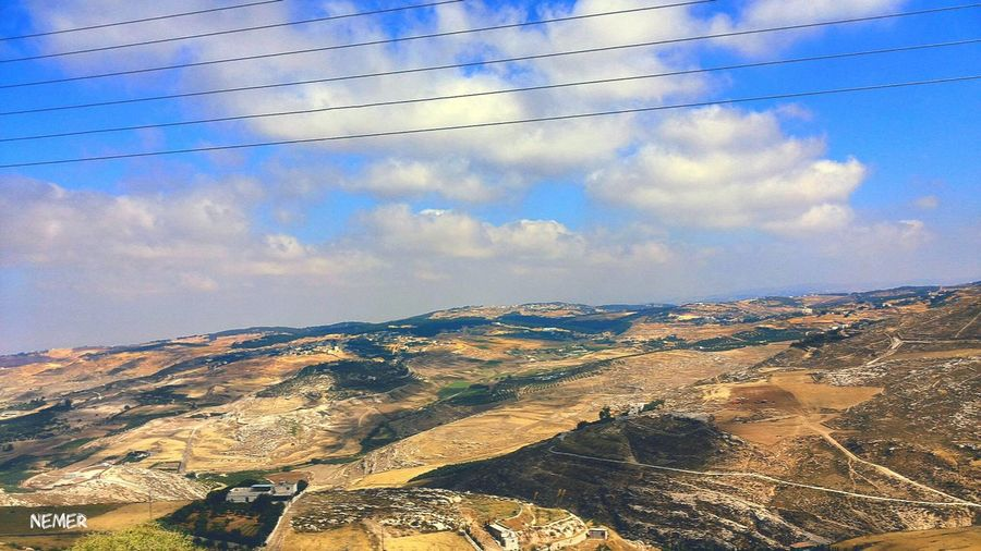 Landscape Sky Tranquil Scene Cloud Blue Cloud - Sky Nature Day Beauty In Nature Outdoors Non-urban Scene Aerial View Physical Geography No People Geology Majestic Remote Amman Jordan First Eyeem Photo Environment Color Of Life Season  Mountain Power In Nature
