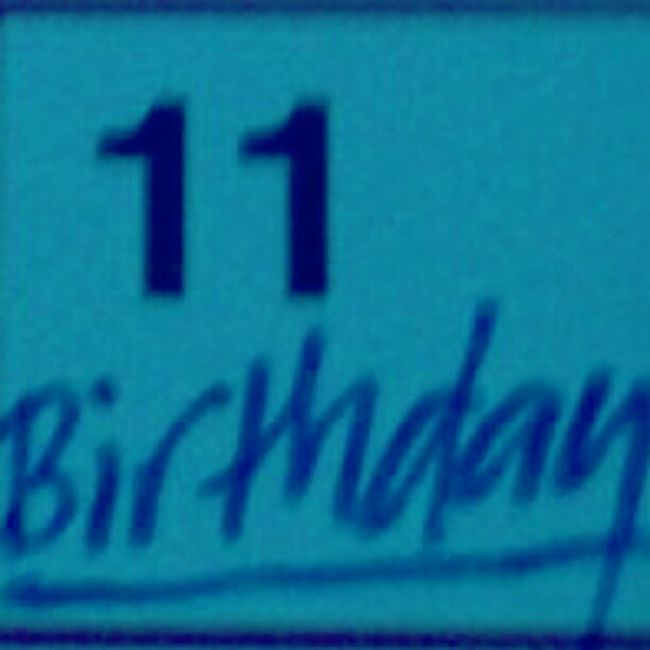 May29 Anumber June11 MyBirthday !^-^<3