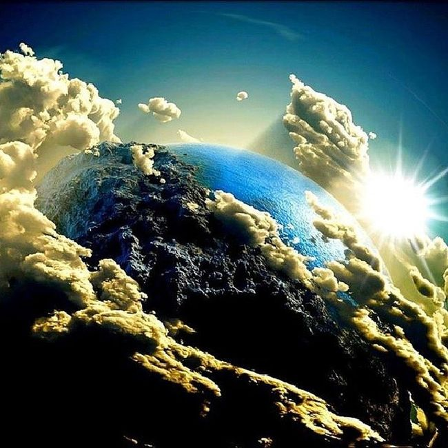 Earth Sun Cloud PlanetBlue Hubble Galaxy We Amazing Internet