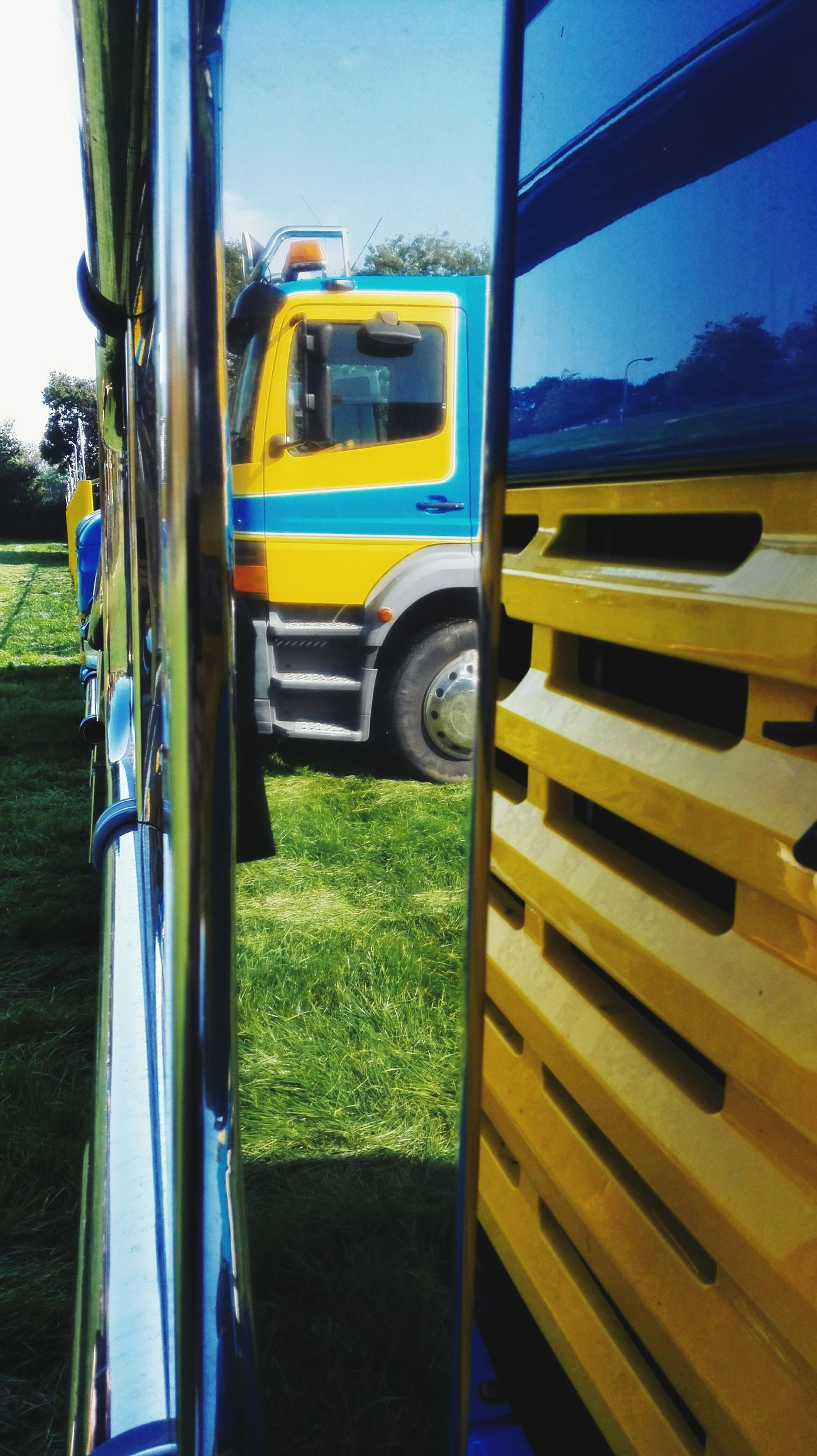 Taking Photos Trucks Reflection Hanging Out