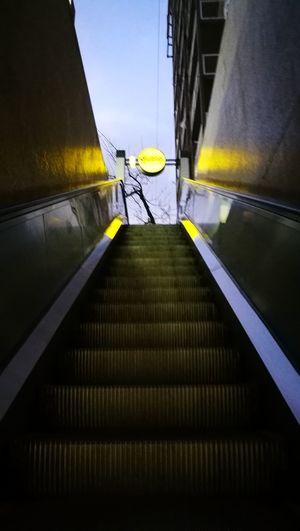 Salida Yellow No People Estacion Venezuela Subway Station Day Subte Linea H Cloud - Sky