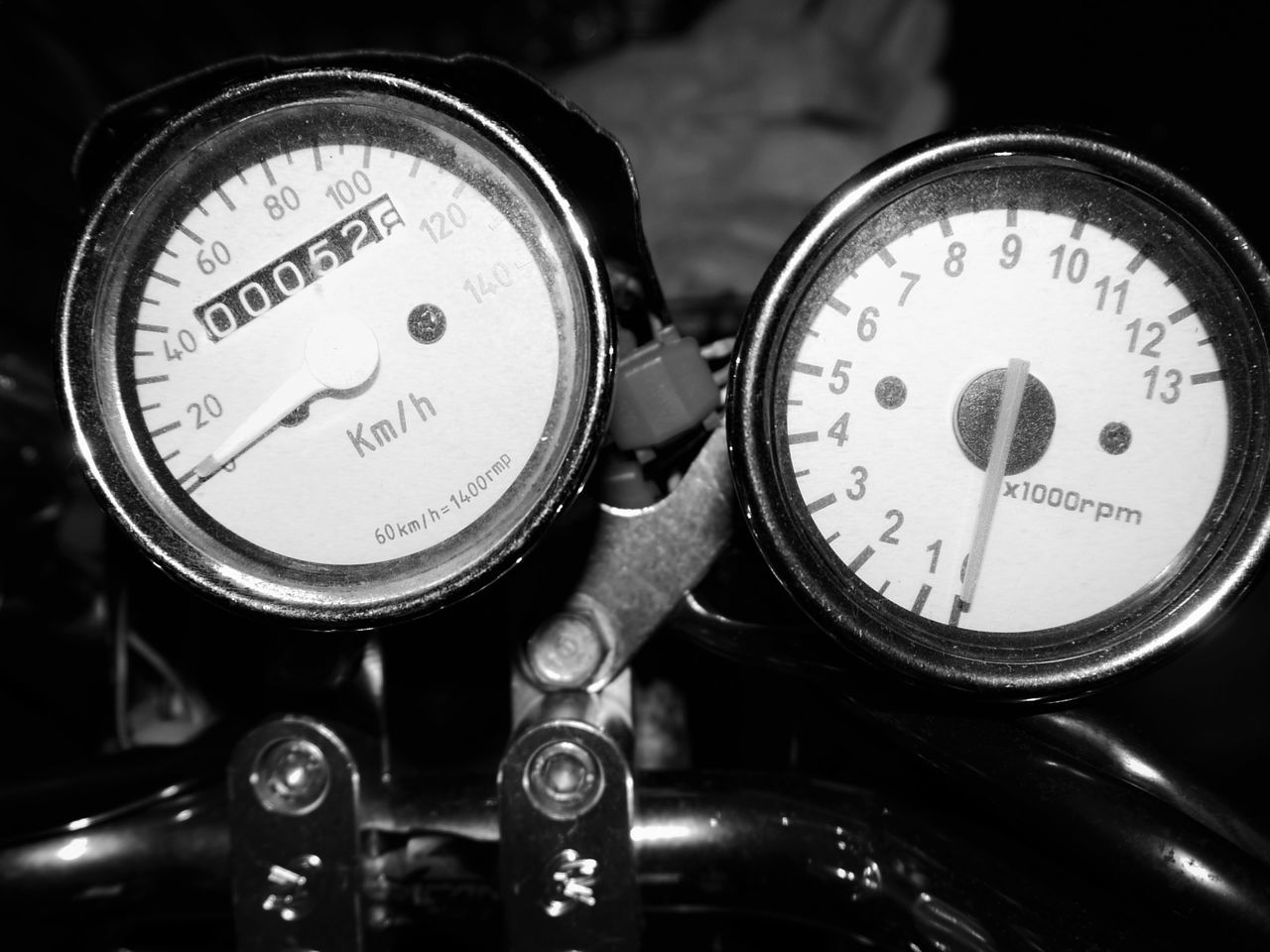 Close-Up Of Motorcycle Speedometer