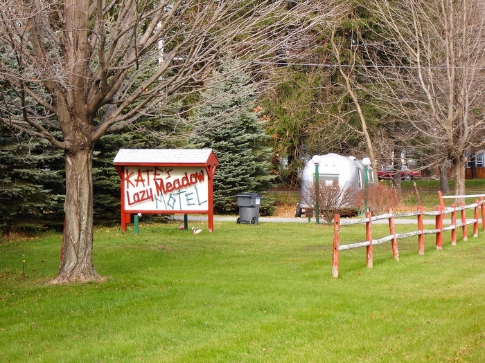 Kate's Lazy Meadow Hotel Airstream Grass Kate Kate Pierson Motel Mt Tremper No People Pierson Tree Woodstock