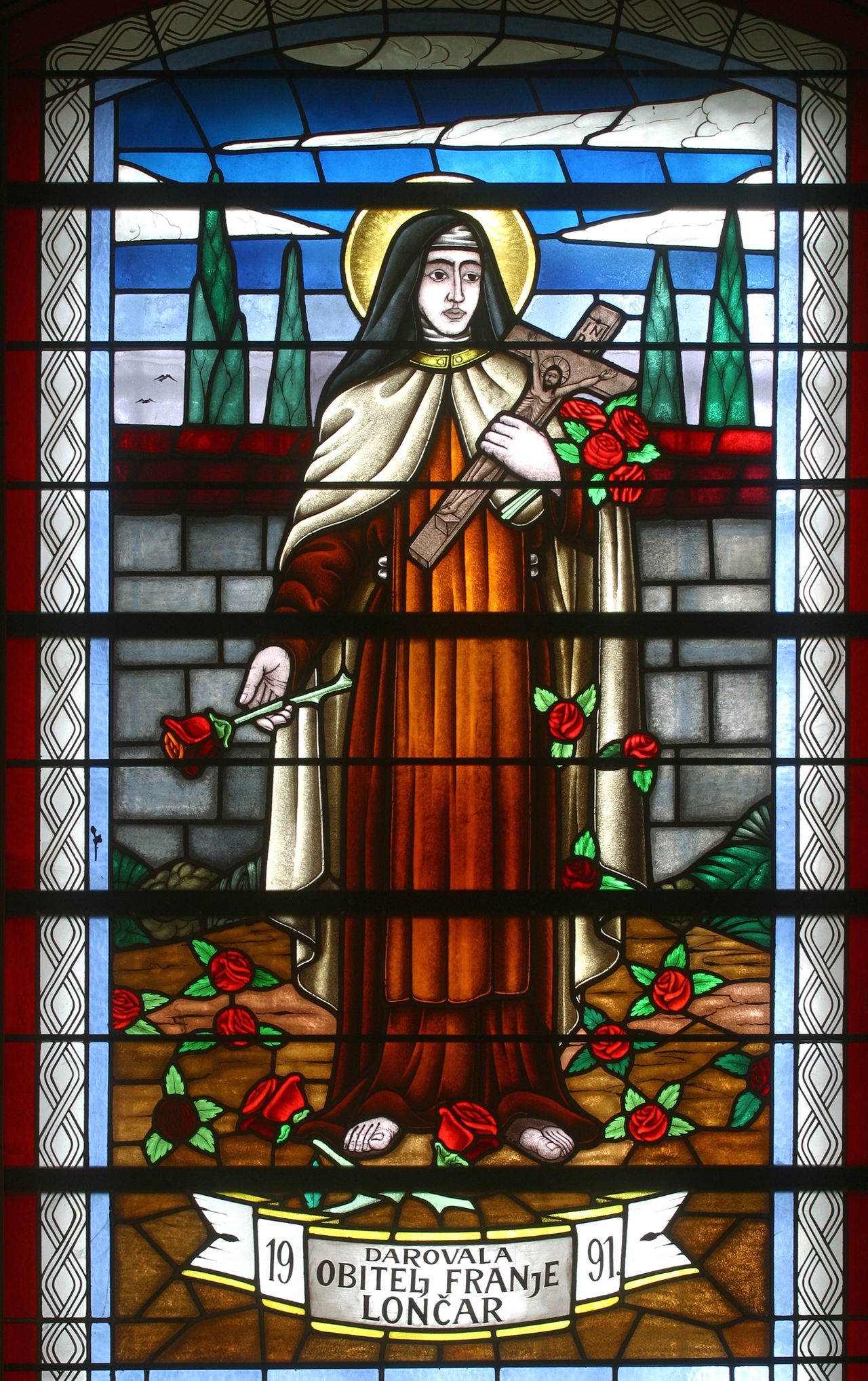Saint Teres of Lisieux Abbey Belief Blessed  Catholic Christianity Church Convent Croatia Faith Historic Holy Lisieux Pilgrimage Pray Religion Sacred Saint Serenity Spiritual Spirituality Stained Glass Teresa Window Windowpane Worship