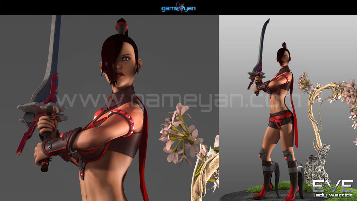 3d lady warrior character animation Canada, Toronto 3D Animation Animator Games MOVIE Studio Cartoon Character Companies Maker Modeling Riggers Rigging