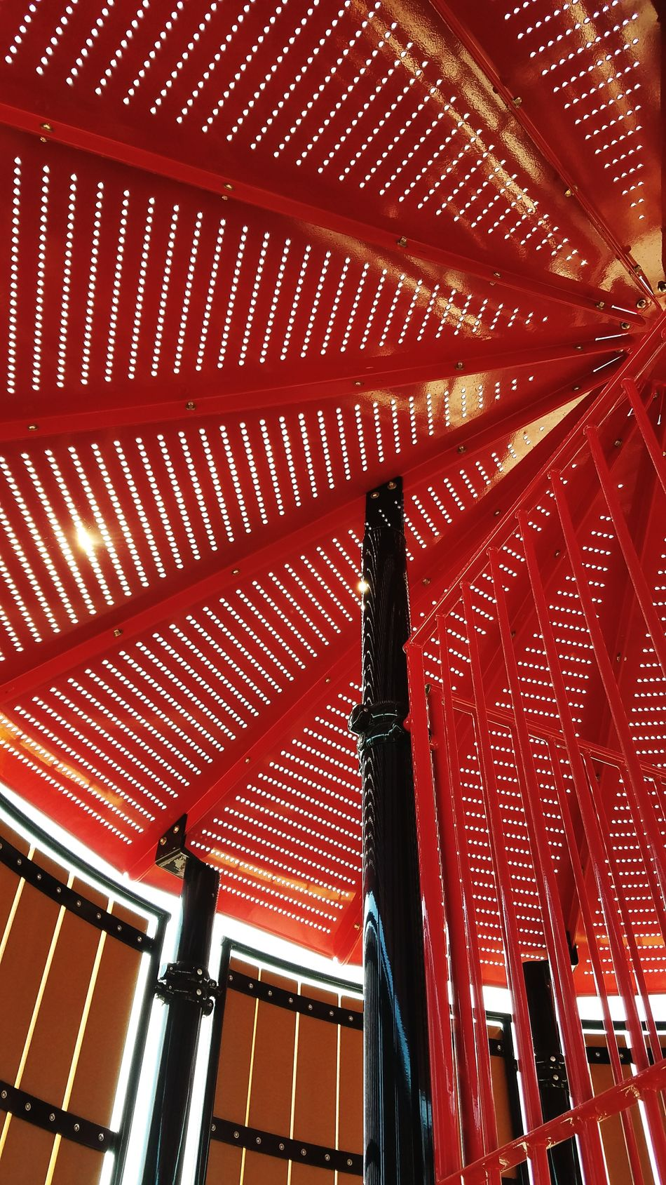 Inside looking up in a childrens playground. Low Angle View Built Structure Architecture Ceiling Pattern No People Indoors  Day Red Playground Playground Equipment ColorRed Metal Metallic Redmetal Park Sun Travel Destinations California Outdoors Popular EyeEm Best Shots Travel Photography EyeEmBestPics No Filter