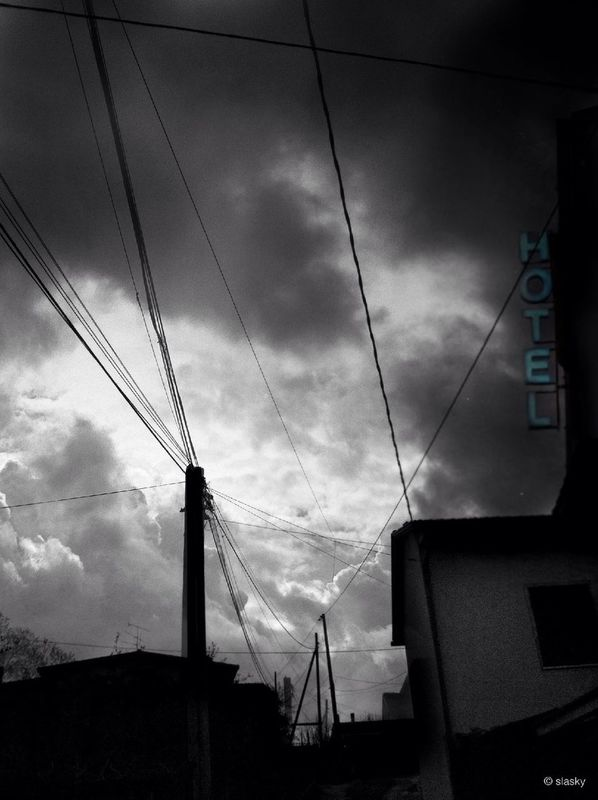 blackandwhite Power Lines by Slasky