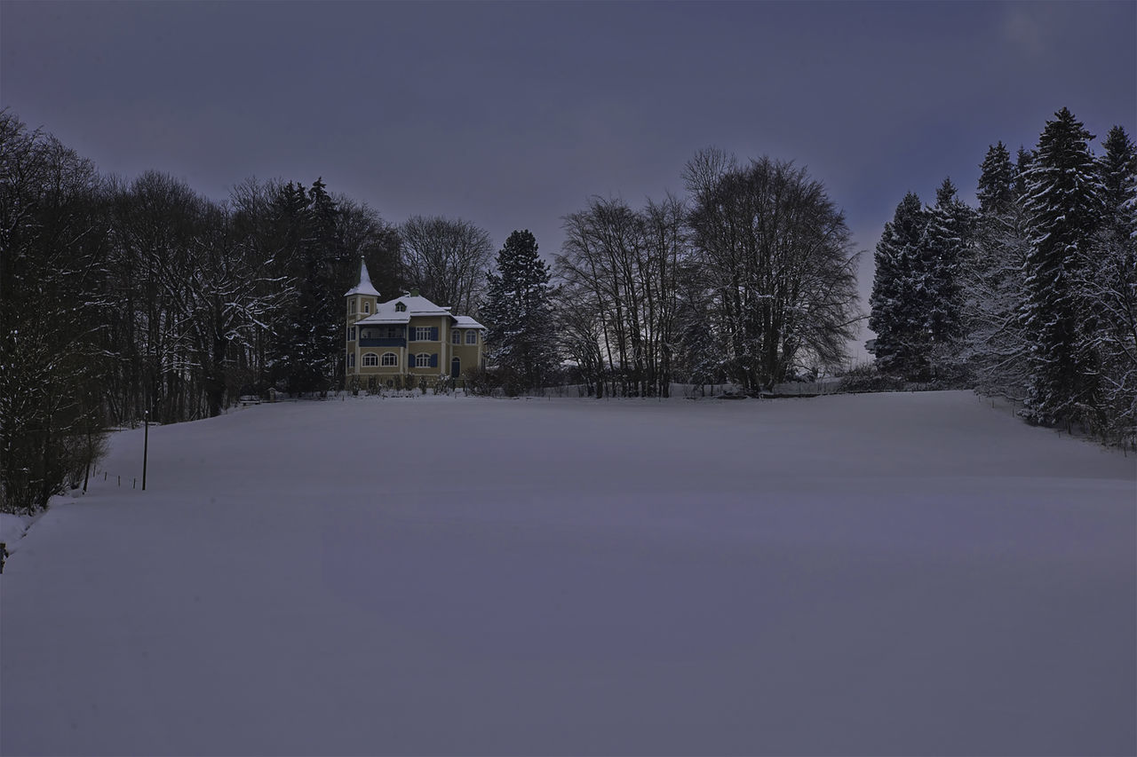 Chiemsee Building Exterior Cold Temperature House Nature No People Sky Snow Winter