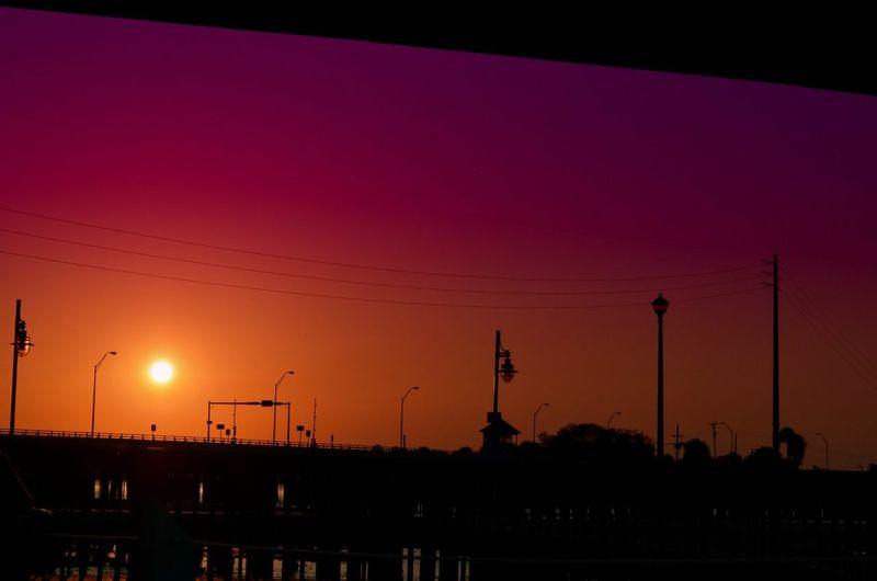 March Showcase Sunset Silhouette Silhouettes Silhouette Bridge Purple Sky Sunset Florida Stuart, Fl Downtown Stuart, Fl Showcase March Marchphotoaday Marchphotochallenge Christinemargaret