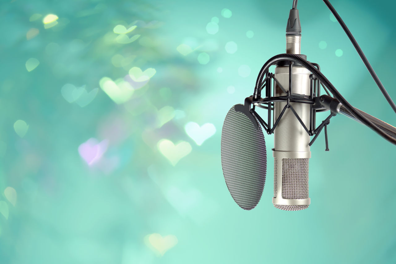 Are you ready for singing contest. Arts Culture And Entertainment Close-up Heart Bokeh Karaoke Time Microphone Music Music Production Musician No People Producer Recording Studio Sing Singer  Singing Contest Songs Superstar Technology Vocalist