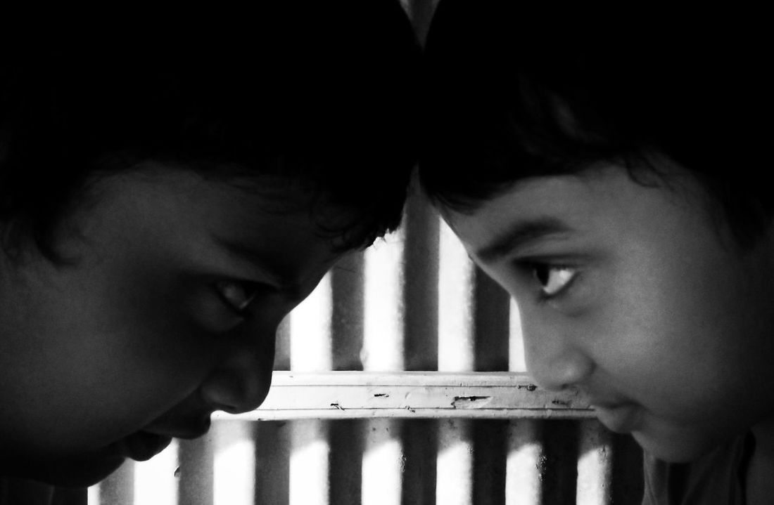 The Clash Of White & Black Headshot Indoors  Human Body Part Human Face Human Eye Close-up People Enemy EyeEm Best Shots Street Photography Indoors  Real People EyeEmNewHere Black & White Live For The Story Full Frame Shadows & Lights Light And Shadow Portrait Photography Two Persons Portrait The Portraitist - 2017 EyeEm Awards Minimal Composition Let's Go. Together.