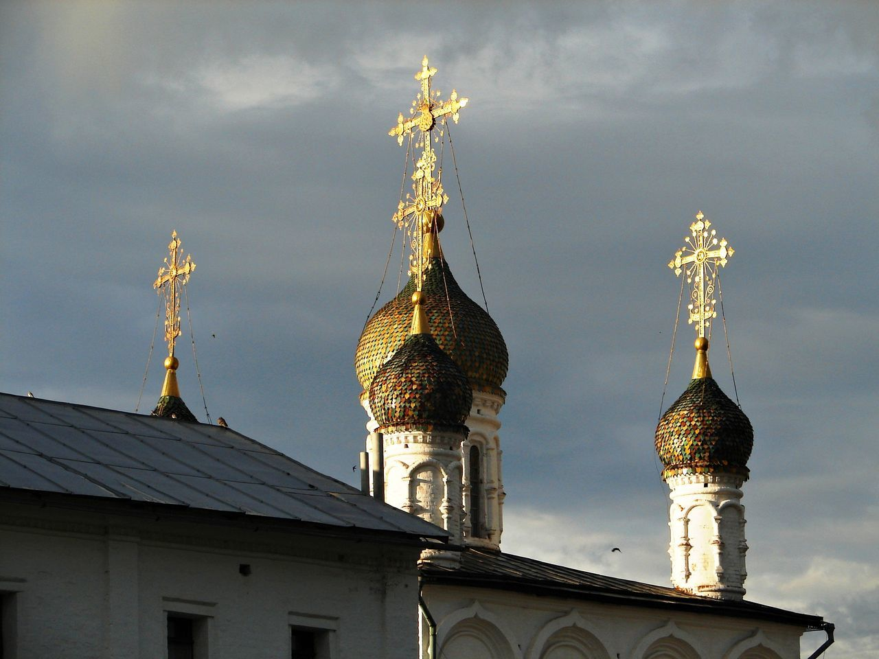 Churches of Gorokhovets, one of the oldest Russian cities Architecture Churches Cupola Day Golden Cross In The Middle Of Russia No People Old Town Outdoors Place Of Worship Sky Summer Travel Tourist Destination Travel Destination White Walls The Secret Spaces