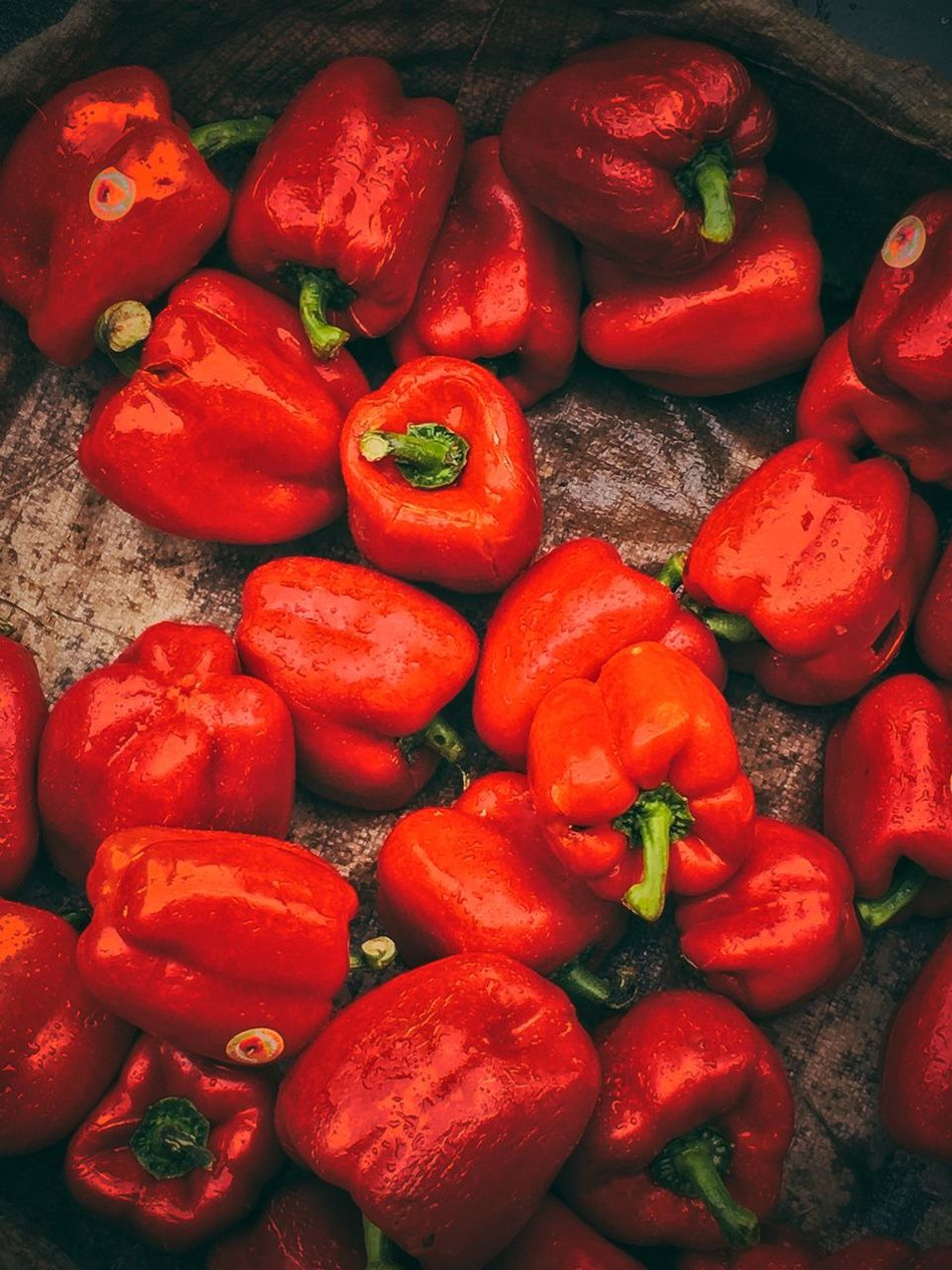 Vegetable Food Freshness Red Red Bell Pepper Day Red Daytime