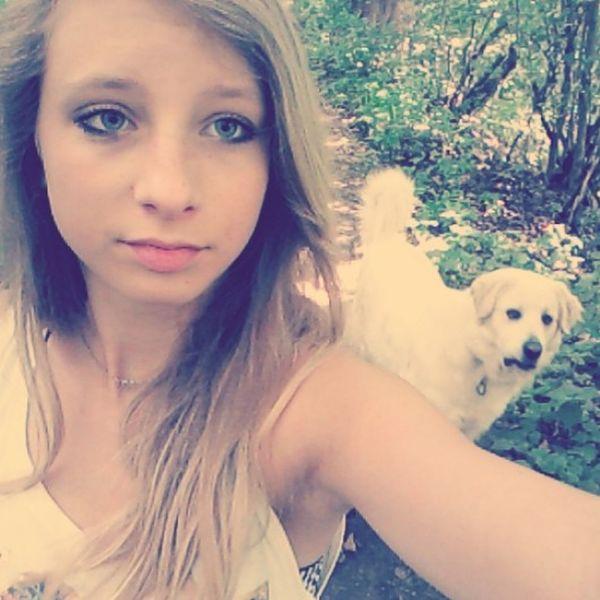 Me Sun Walking With My Doggy ❤ Love