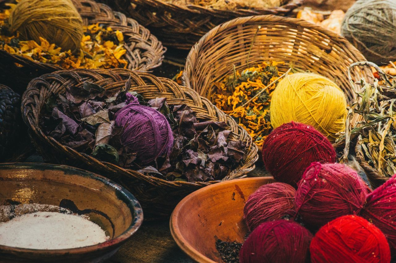 Peru Traveling Basket Multi Colored Wool Knitting Ball Of Wool Variation Indoors  No People Close-up Knitting Needle Day Peru Natural Materials Art Is Everywhere Break The Mold Visual Feast