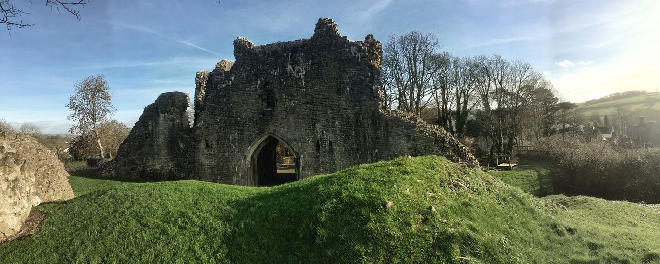 St. Quentins castle, llanblethian. Wales EyeEm Gallery Castle Castles Landscapes Eye4photography  EyeEm Nature Lover IPhoneography Panorama Panaromic EyeEm Best Shots - Landscape December Showcase: December Snapseed Cowbridge Wales❤ Eye4photography