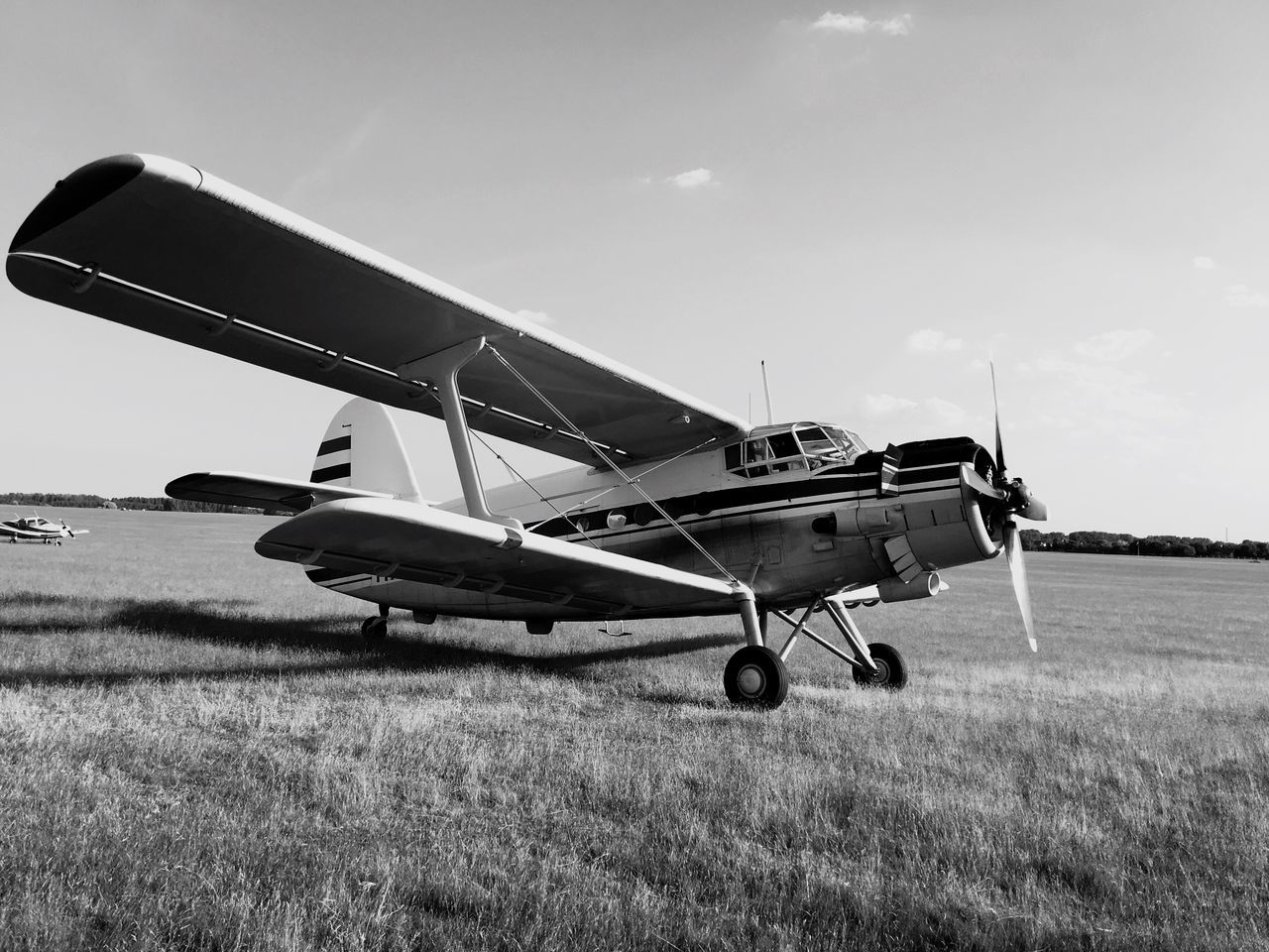 An old AN-2 airplane.