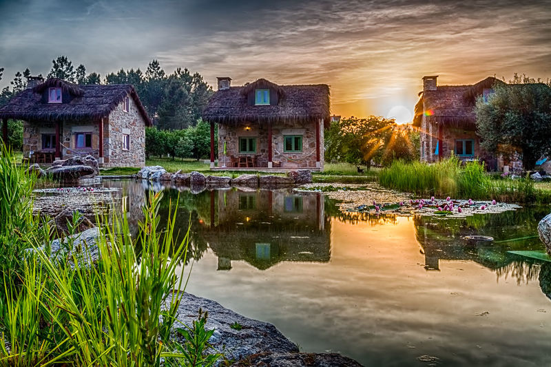 Taken @Travancinha,Seia, Guarda - Portugal 2017 Beautiful Portugal Travancinha Colorful House Lake No People Outdoors Reflection Seia Sunset Tranquil Scene Tranquility Water
