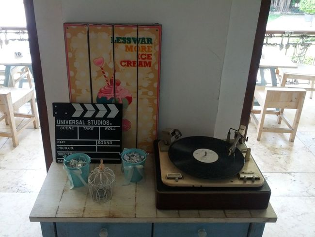 Less War More Ice Cream Ancient Chair Day Domestic Room Furniture Museum Still Life Turn Table Peace, Love And Music Ice Cream