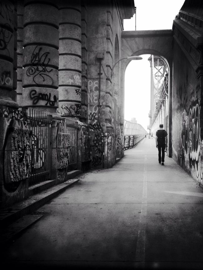 The Sunday Walk Manhattan Bridge New York City New York Streetphotography AMPt_community Blackandwhite Streetphoto_bw