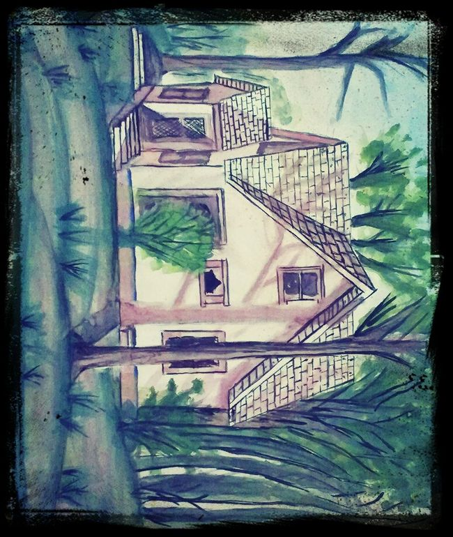 my first water color painting :) Fineart Watercolor Watercoloring Paintings