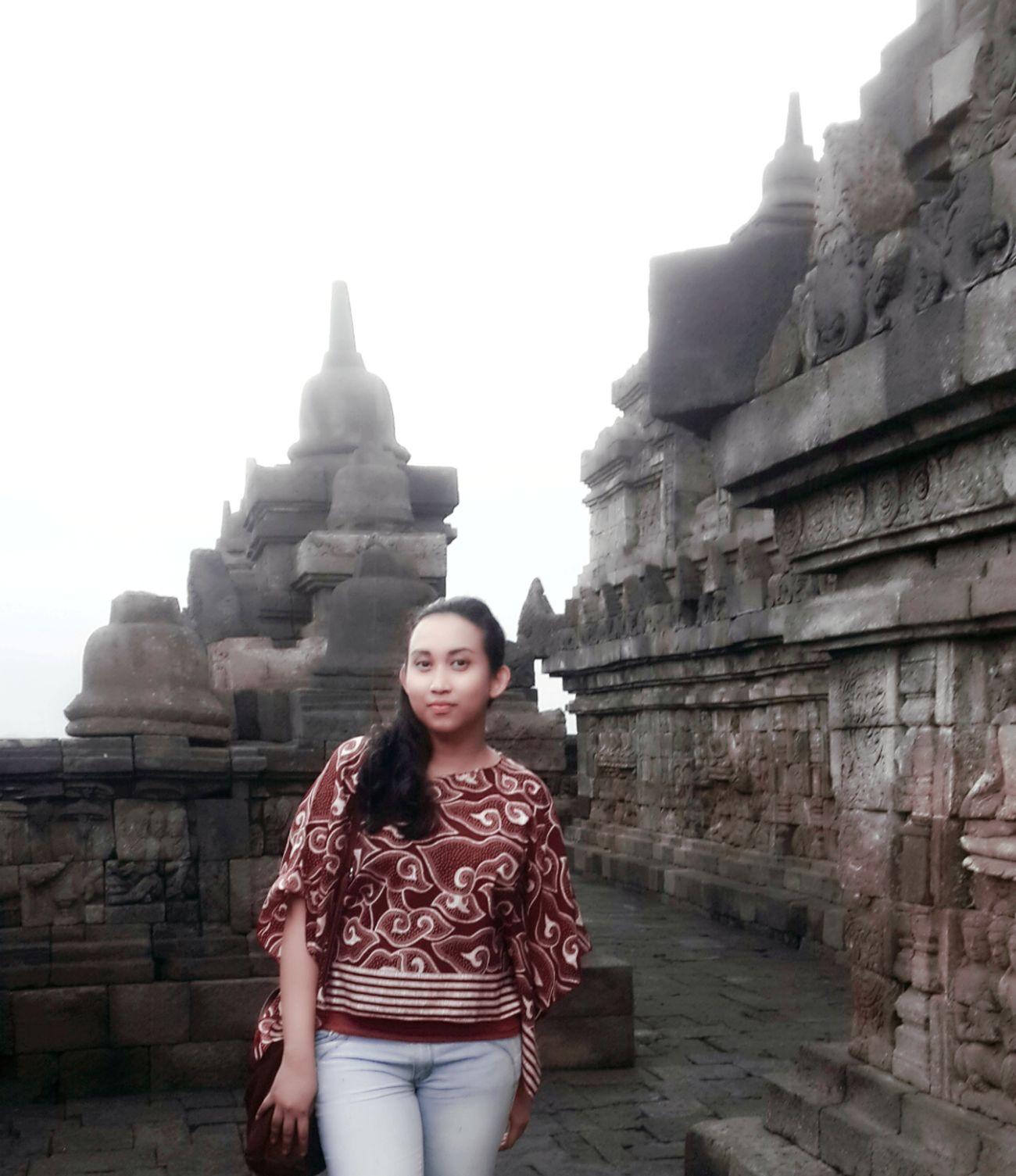 Proud wearing Batik Amazing Indonesia Amazing Architecture Borobudur Temple, Indonesia 7 Wonders Of The World