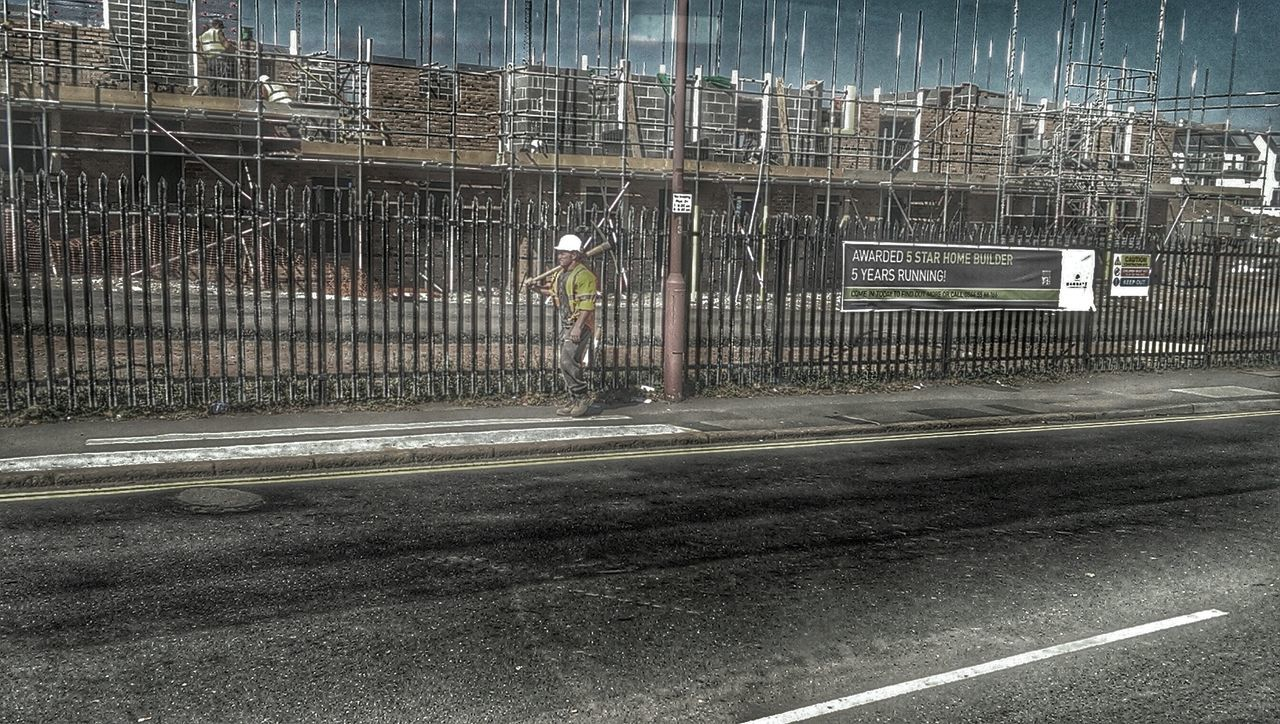 Looking for the other six .... Building Site Construction Worker HDR Streetphotography Lost In Wonderland