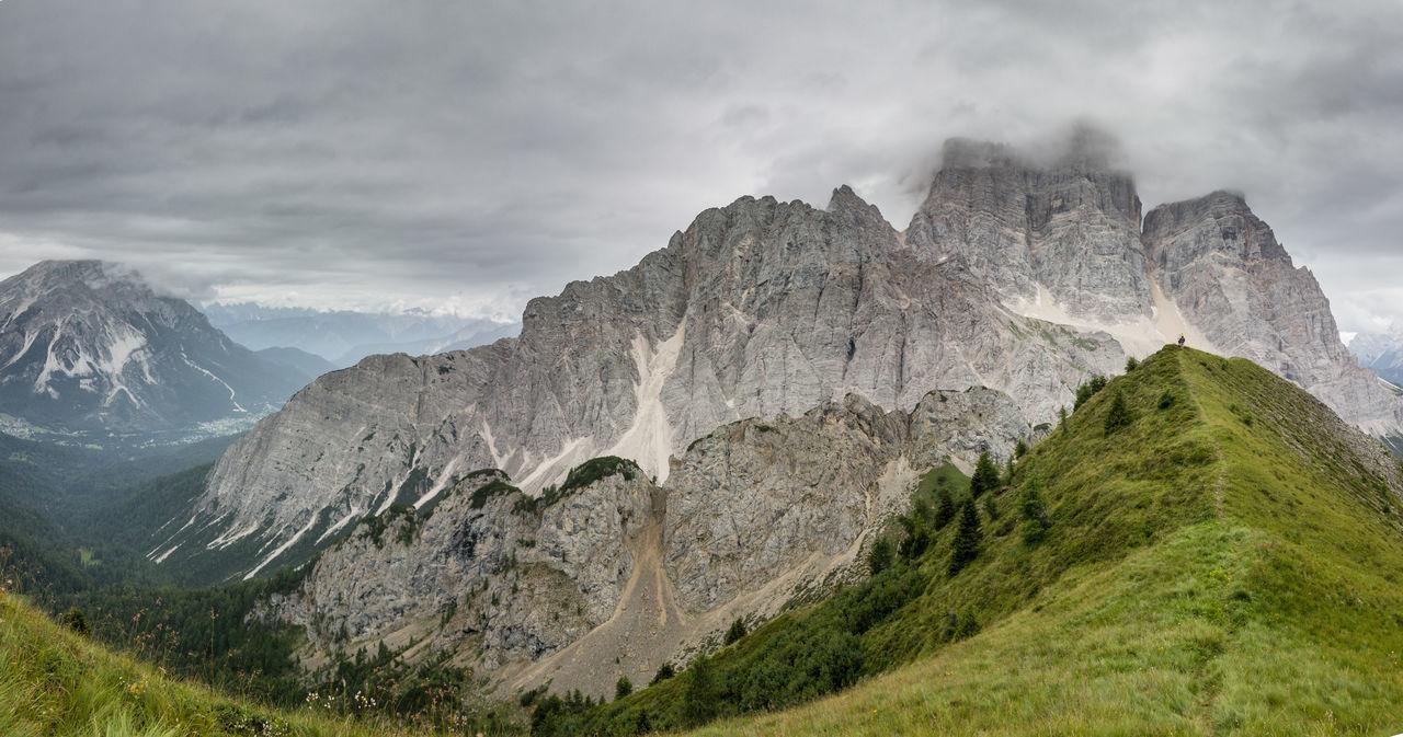 Dolomiti, the Pelmo Muont near Rifugio Fiume Clody Day Dolomiti Bellunesi Dolomiti Italy Dolomitiunesco Montains    Overcast Panoramic Photography Panoramic View Pelmo Rocky Mountains The Week On EyeEm Val Zoldana