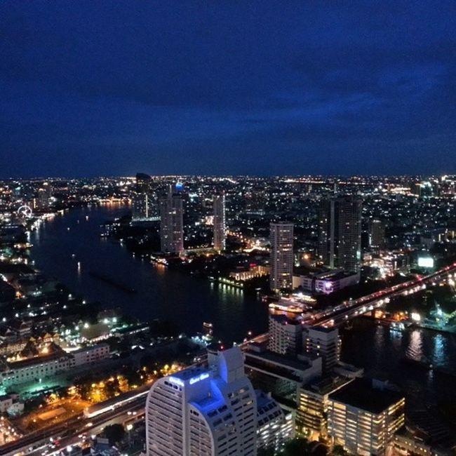 Bangkok Thailand Bangkokriver Bangkokbynight Lebua Towerclub Towerclubatlebua Nofilter Cities At Night Birdeyeview
