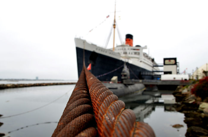 Boat Close-up Cruise Liner Day Dock Focus On Foreground Funnel Outdoors Port Queen Mary Selective Focus Ship The Queen Mary Tourism Water