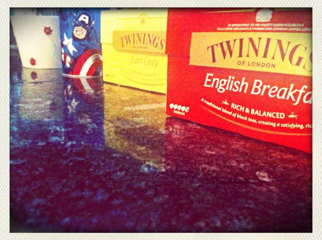 tea time with my baby ? Allgrey Captain America Tea Time Home Sweet Home