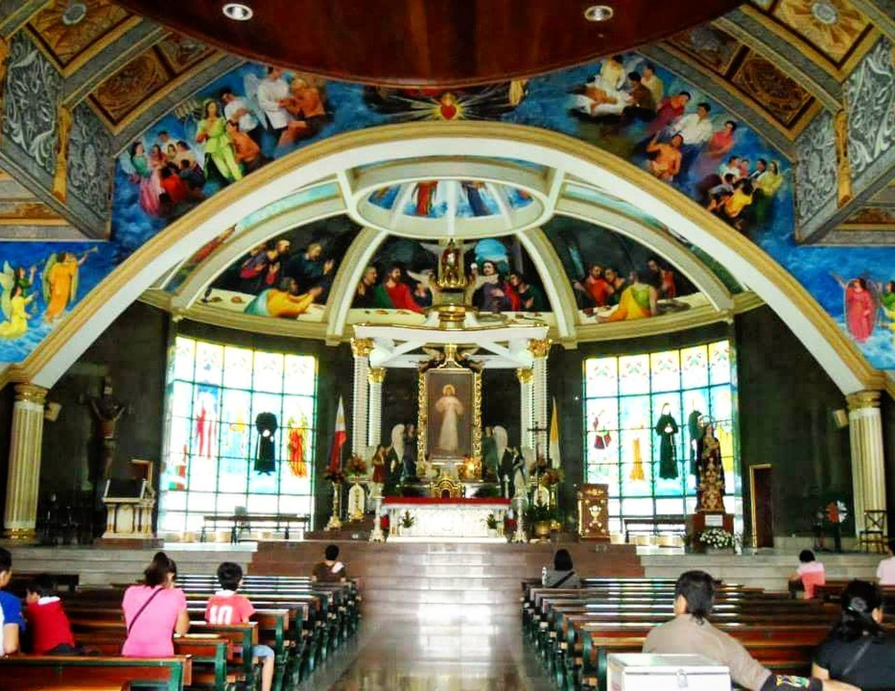 National Shrine of the Divine Mercy⛪ Philippine Churches Eyeem Philippines Eyeem Marilao Eyeem Bulacan Faith Pilgrimage Church Colour Of Life