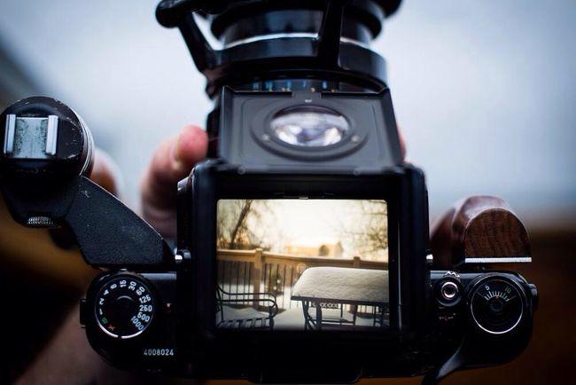Waist-level view finder. #pentax67 #camera #viewfinder Winter White By CanvasPop