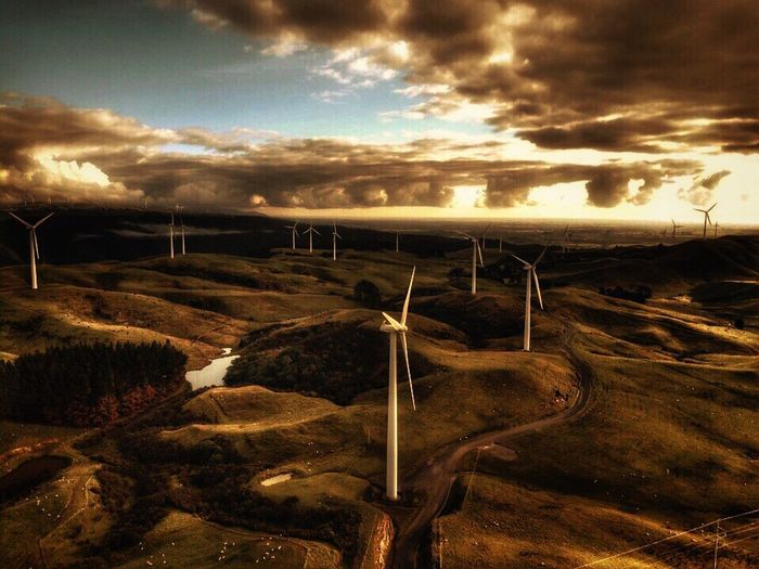 Windmill wind turbines Tranquil Scene No People Cloud - Sky Landscape Nature Beauty In Nature Sky Fuel And Power Generation Scenics Alternative Energy Tranquility Wind Power Wind Turbine Sunset Outdoors Industrial Windmill Day Rural Scene Windmill