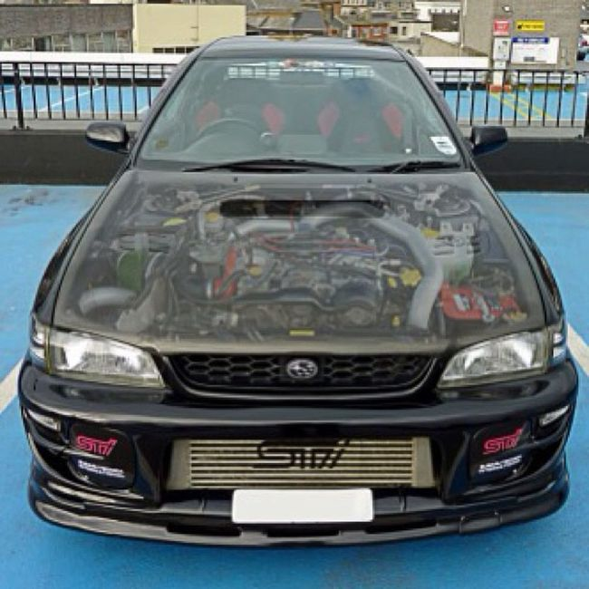 A bit of photoshopping ;) #car #subaru #sti #black #improvedimage #impreza Car Black Subaru STI Impreza Improvedimage