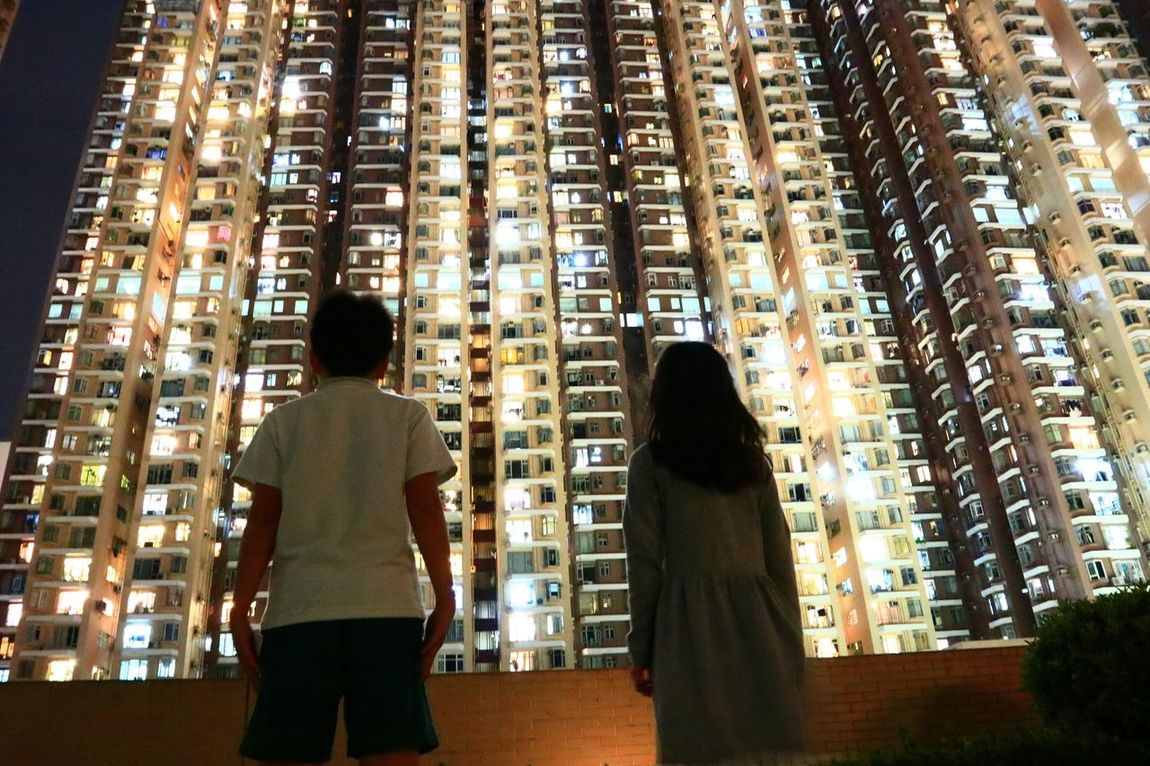 Two People Architecture Discoverhongkong Urban Exploration Cityscape Look Up Lookup Nightphotography Night Walk Night Photography Tadaa Community Finding New Frontiers The Portraitist - 2017 EyeEm Awards The Architect - 2017 EyeEm Awards