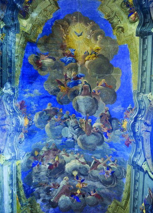 Saint Teresa Ukraine Architecture Carmelitas Carmelite Fresco Indoors  Lviv Paint Painted Image Saint John Of The Cross Saint Michael Church Saint Teresa Of Jesus San Juan De La Cruz