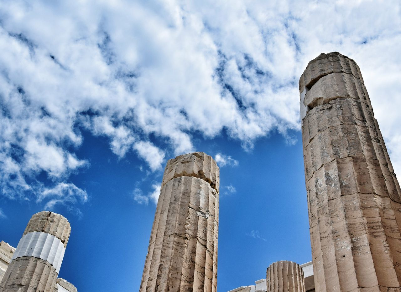 Athens.Greece Low Angle View Cloud - Sky Architecture Built Structure History Sky Travel Destinations Outdoors Ancient Civilization Hellas Archaeology Old Ruin The Past EyeEm Best Shots Photography EyeEmNewHere 3XSPUnity Greece Athens Coloum Old-fashioned Architectural Column EyeEm Gallery